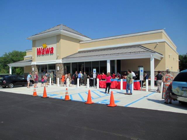Grand opening of the Wawa in Middle Smithfield Township