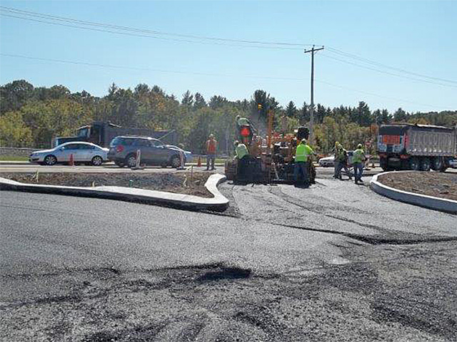 Paving entrance from Route 209